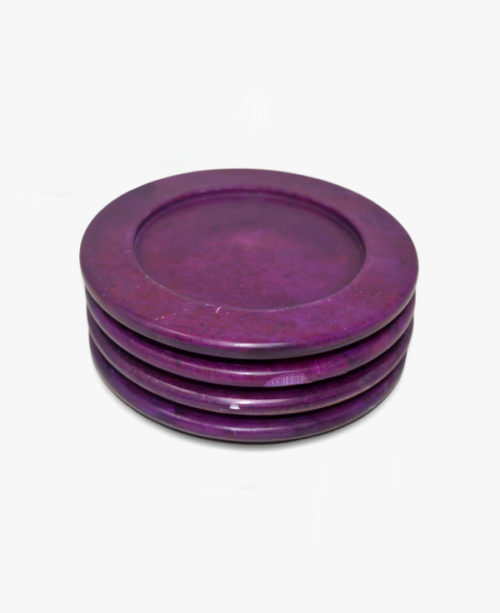 purple candle plates